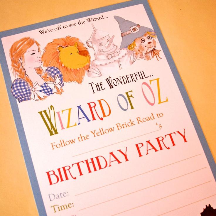 Wizard of oz party invite: Oz Invite, Levi S Wizard, Book Party, Dr. Oz, Party Ideas Wizard, Oz Party, Wizard Of Oz, Graces Wizard