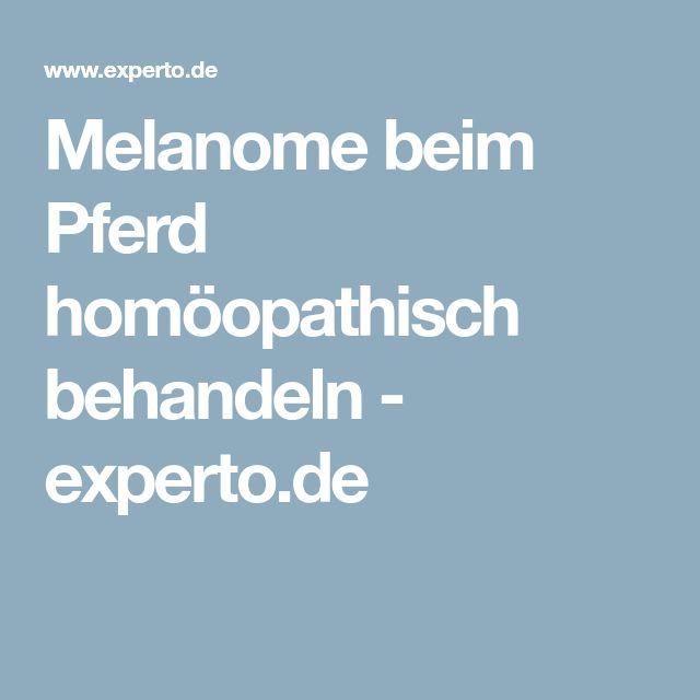 Melanome beim Pferd homöopathisch behandeln - experto.de