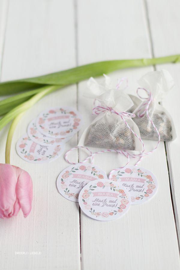 Dreierlei Liebelei: DIY Teebeutel + Muttertags-Freebie {Géramont Glückskäse}
