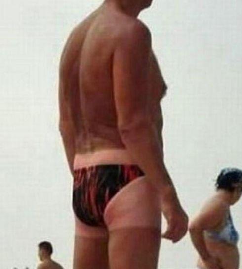 Guys Tanning Line  ---- funny pictures hilarious jokes meme humor walmart fails