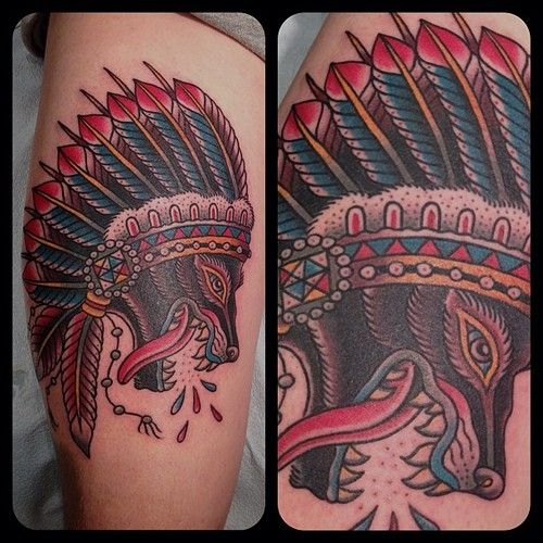 Color Tattoo By Matt From Black Sails Tattoo: Wolves, Posts And