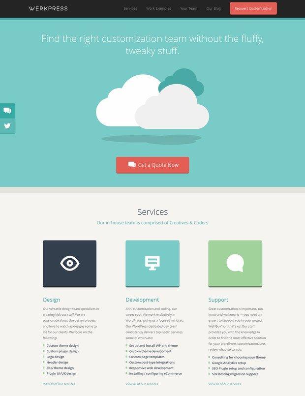 Flat web design inspiration