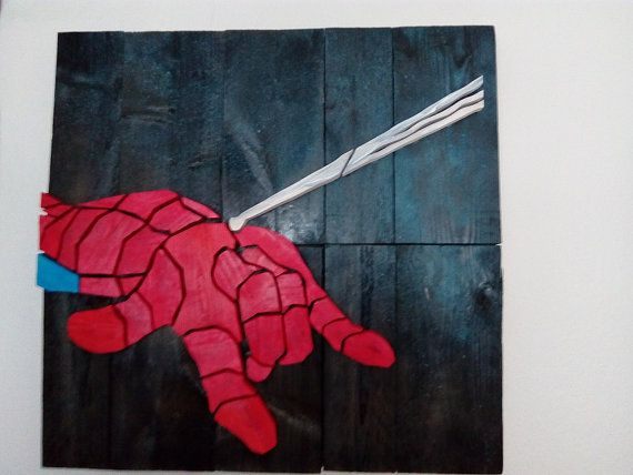 Spiderman - Wood Picture