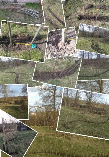 Pletený plot z prutů, jako přírodní bariéra