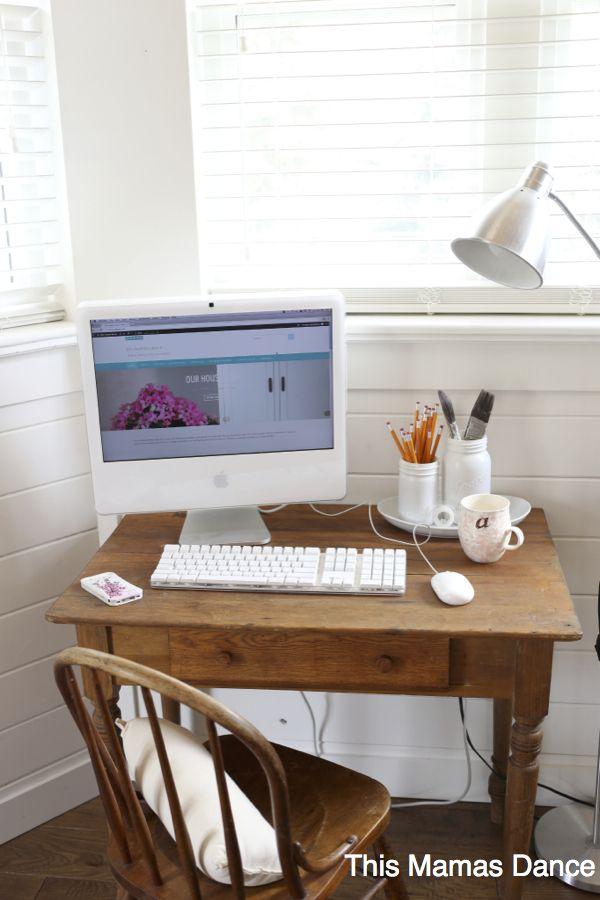 antique desk writing station, blog desk| this mamas dance