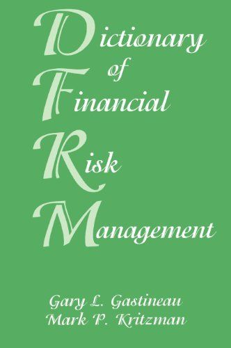 Gary Gastineau and Mark Kritzman team up once again for the third edition of this classic reference tool designed for financial analysts and managers. Anyone involved in financial risk management must have a proper understanding of the words, terms, and phrases used in this fast paced field-and... more details available at https://insurance-books.bestselleroutlets.com/risk-management/product-review-for-dictionary-of-financial-risk-management-third-edition/
