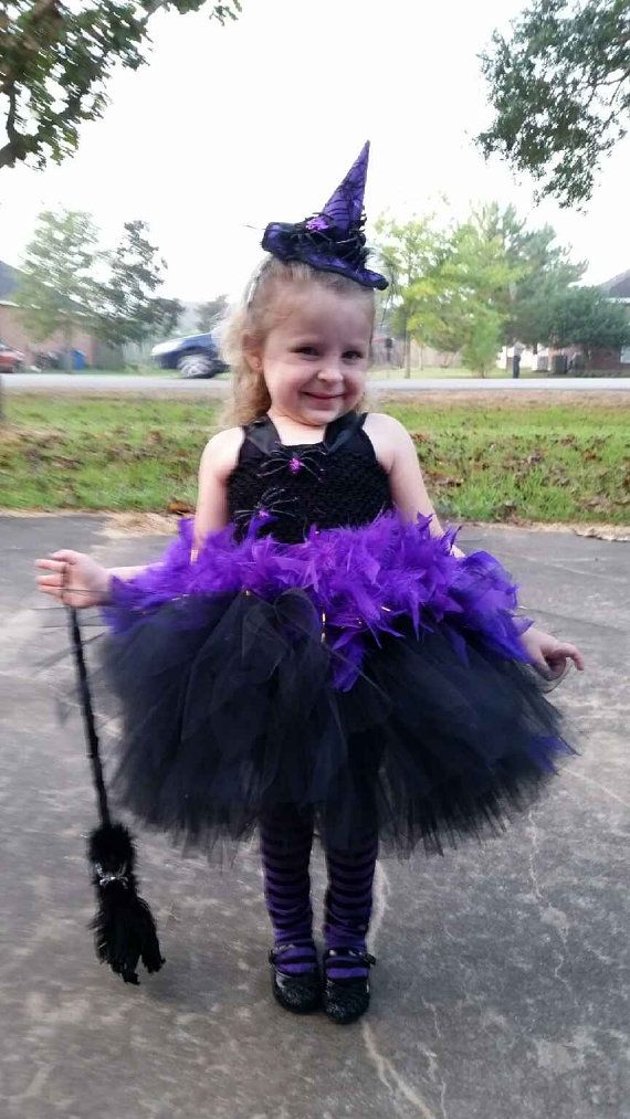 Purple/Black Witch Tutu set:  Witch Hat Headband by SarahsMoon