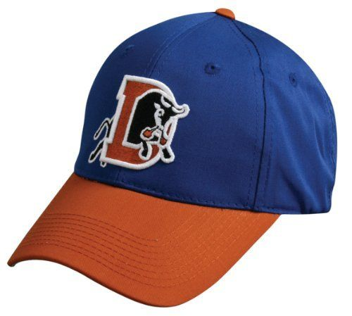 MiLB Minor League ADULT DURHAM BULLS Royal/Burnt Orange Hat Cap Adjustable Velcro TWILL Rays Affiliate New by Team MLB - Authentic Sports Shop. $8.49. We are your team supplier with team qtys available. Another popular seller with retail of $21. Great for all leagues. -6 panel polyester/cotton twill cap. Structured, mid-profile with 3D replica logo. Pre-curved visor. Grey undervisor and adjustable velcro closure. Adult cap fits ages 12 and up.