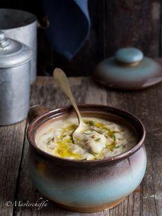 Crema di cavolfiore e patate con lenticchie