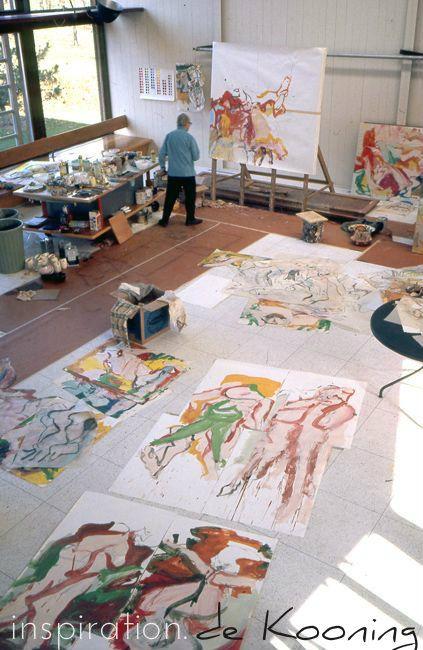 Art Studio Style inspiration Willem de Kooning