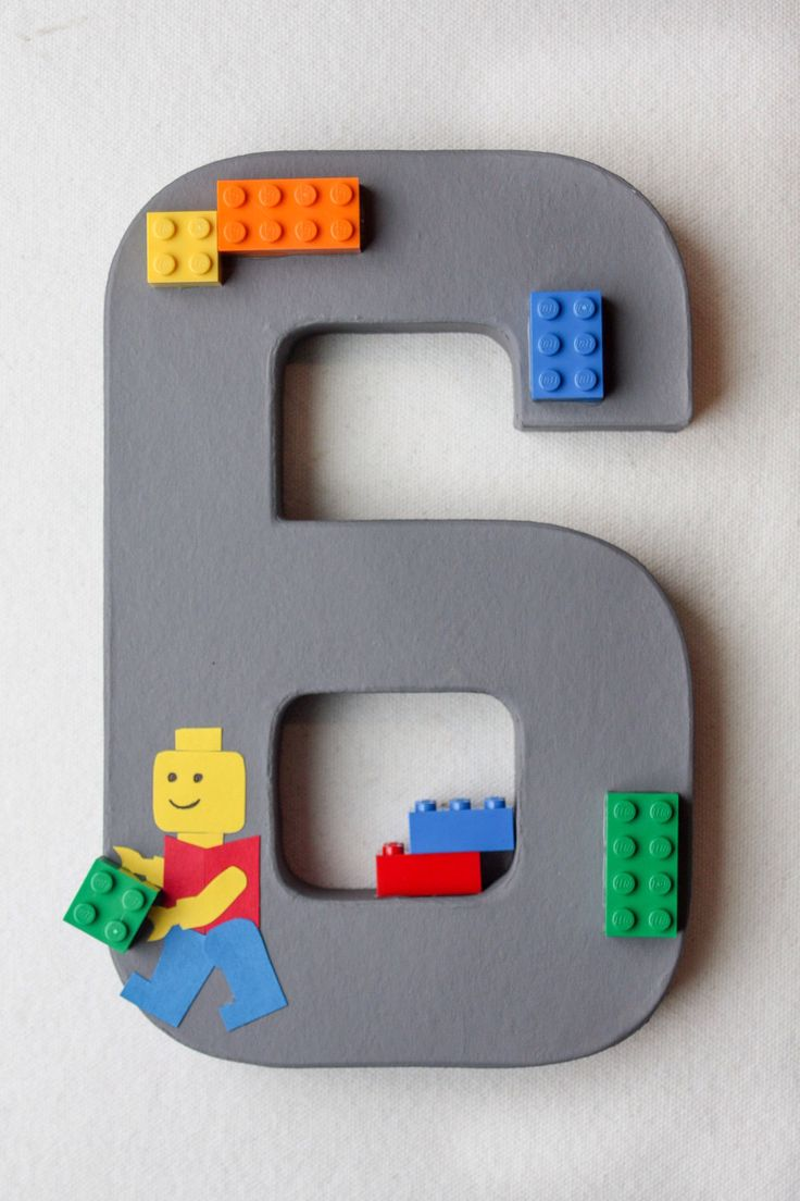 LEGO Party Decoration - Classic LEGO Birthday Number or Letter by LittleABCs on Etsy https://www.etsy.com/listing/230371271/lego-party-decoration-classic-lego