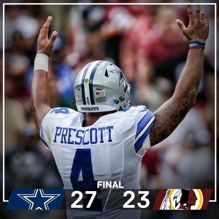 9-18-2016. Cowboys vs Washington  Daks 1st NFL touchdown!!!