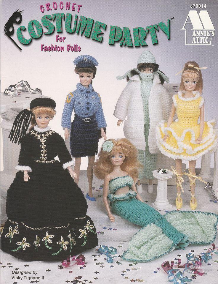 Mejores 2421 imágenes de barbie crochet en Pinterest | Muñecas ...