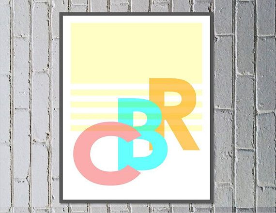 CBR print digital download Canberra Australia hipster art - Made by Gia $4.50