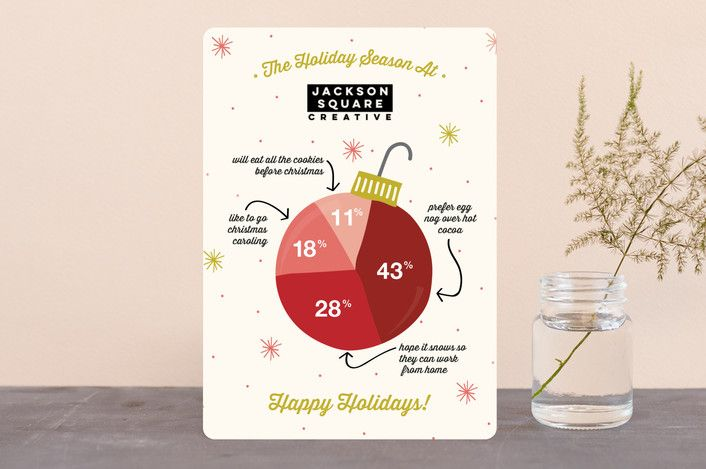 Infographic Ornament Business Holiday Cards Business Holiday