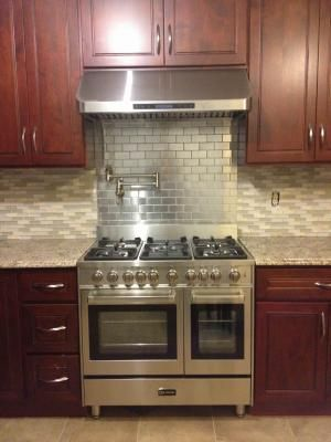 Backsplash Behind Stove Metallic Wall Tiles Metal Tile