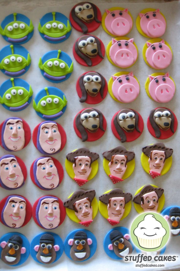 Toy Story Fondant Cupcake Toppers