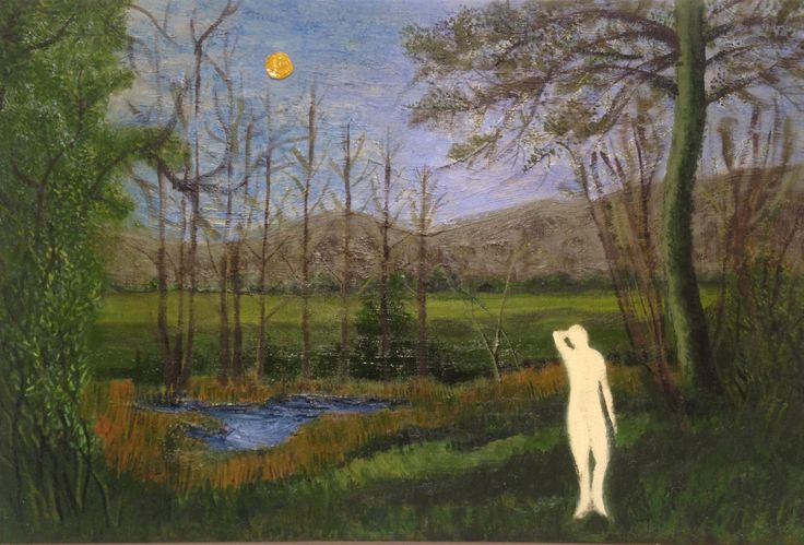 Venus in the woods Oil on linen canvas 92 x 65 cm