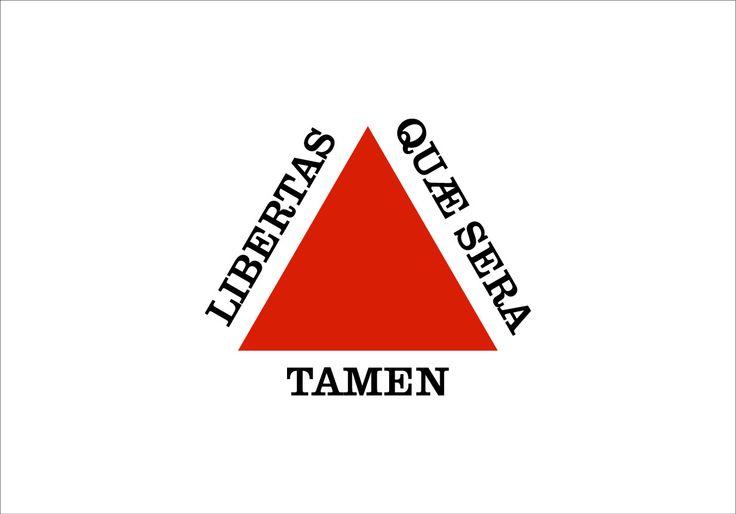 """Bandeira de Minas Gerais  (Flag of Minas Gerais)  """"Liberdade / ainda que / tardia""""  (Freedom / though / late)"""