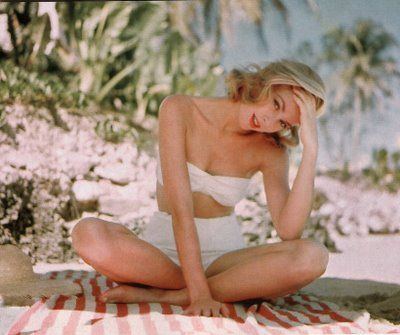 grace kelly circa 1950's in the perfect white bikini (i'm beginning to think i was born in the wrong era)
