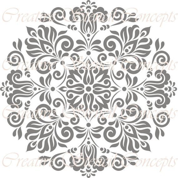 Abstract Floral Seamless Decorative Stencil MULTIPLE SIZES AVAILABLE on Industry Standard 10 Mil Mylar Design 129960542 on Etsy, $12.95