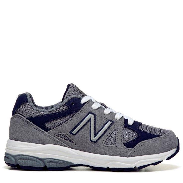 New Balance Kids' KJ888 Medium/Wide/X-Wide Running Shoe Preschool Shoes (Grey/Navy Leather) - 11.0 M