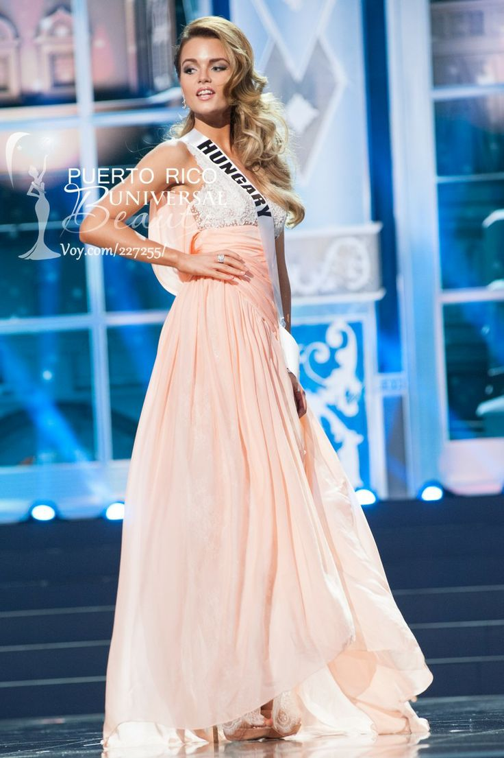Rebeka Kárpáti, Miss Universe Hungary 2013, competes in her evening gown during the preliminary competition for the 2013 Miss Universe pageant on November 5, 2013. #MissUniverse2013 #MissUniverse #MissUniverso2013 #MissUniverso #Russia #Moscow #Rusia #Moscú #MissHungary #MissHungria #RebekaKarpati