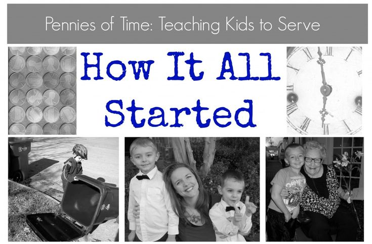 How Pennies of Time started . . . One mom's desire to teach her kids to serve.