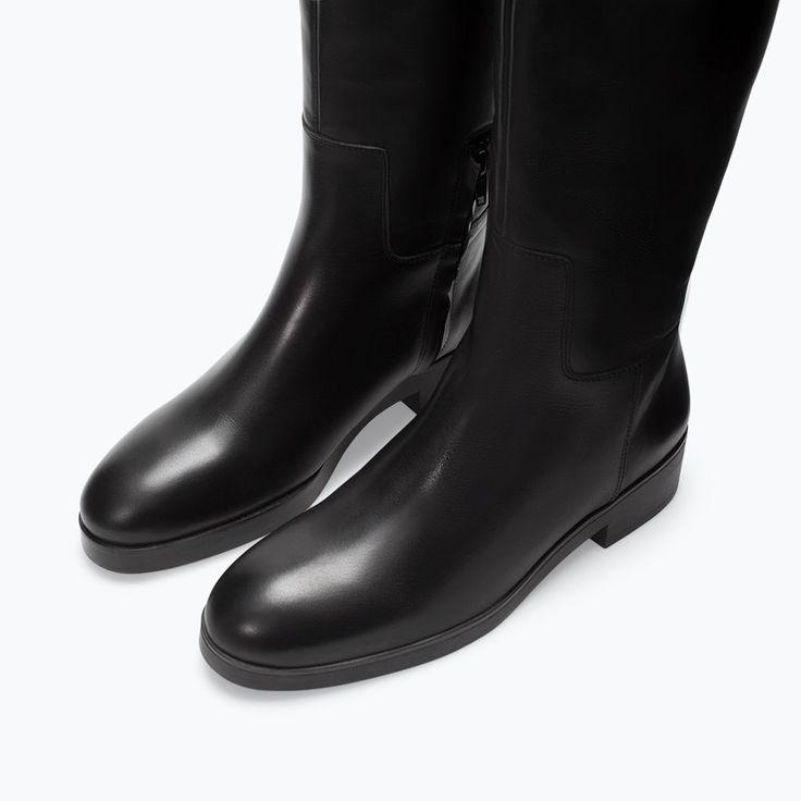 Image 4 of FLAT LEATHER BOOT from Zara $120
