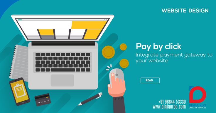 Website Design Pay by Click. Integrate payment gateway to your website.   #payment #gateway #design #website