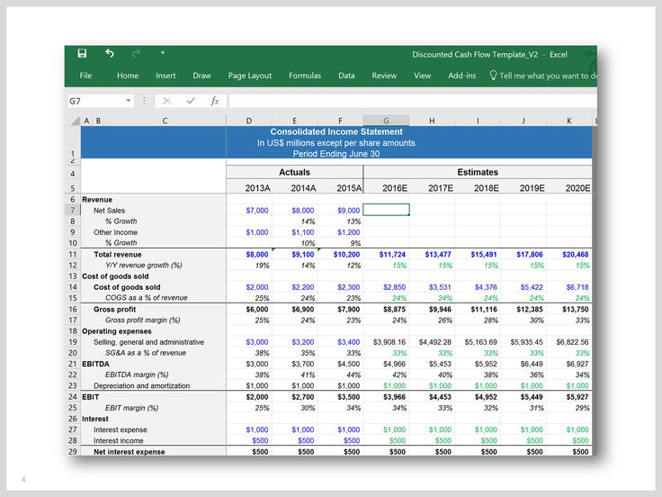 10 best dcf model template in excel by ex deloitte for Discounted cash flow analysis excel template