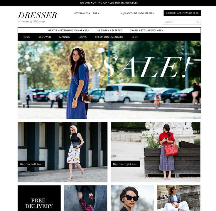DRESSER theme by SEOshop | ecommerce | design | online store | webshop | selling