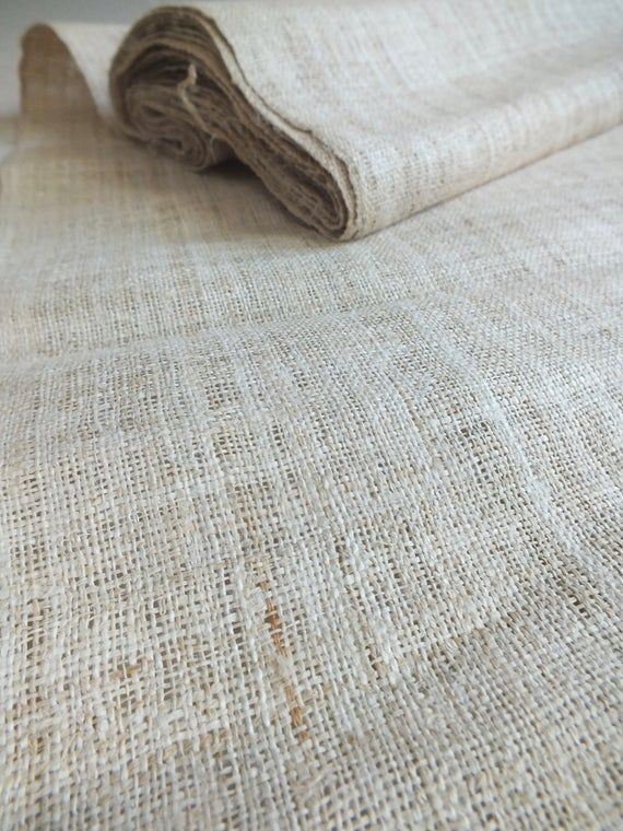 Vintage Hemp Fabric Textile This Roll Of Hemp Is Handwoven 100 Vintage Handwoven Hand Loomed The Fabrics To In 2020 Vintage Fabrics Hmong Textiles Hand Weaving