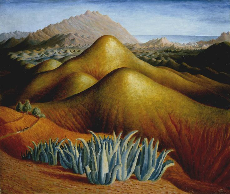 Spanish Landscape with Mountains circa 1924 ~ Dora Carrington, Artist