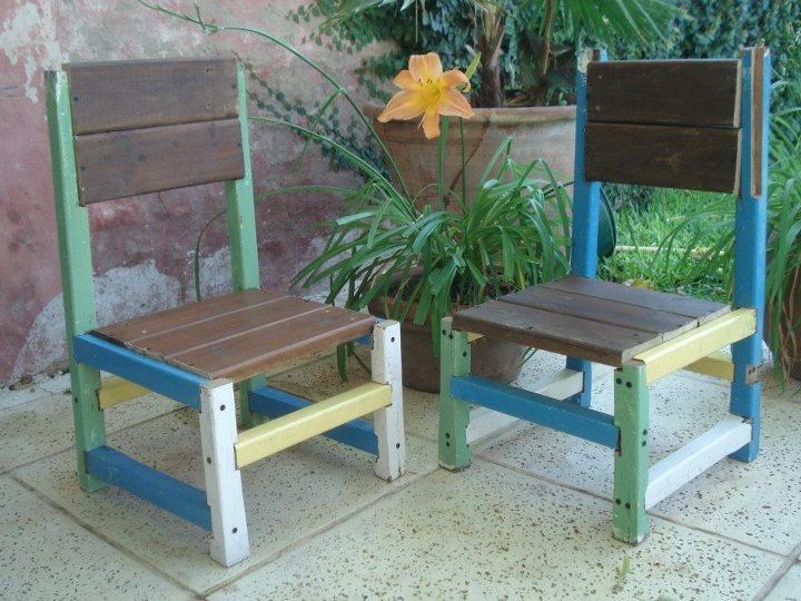 Sillas materas con maderas 100% recicladas by WOODHEAD  www.facebook.com/WHMUEBLES