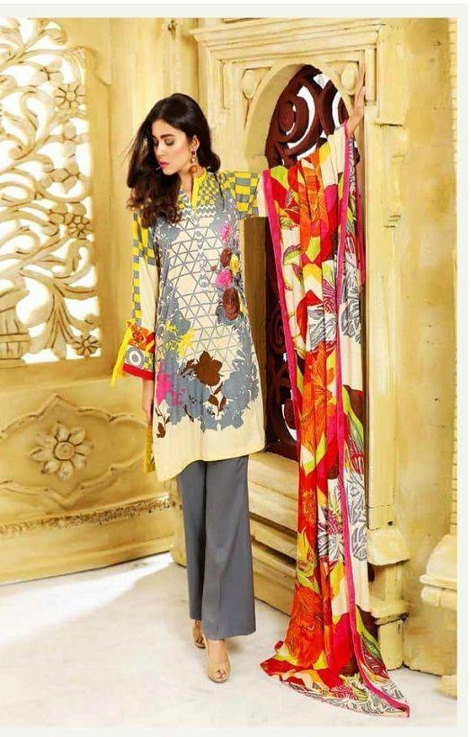 f6645c2389 Juvi Fashion Presents Firdous Premium Vol 2 Cotton Satin Printed &  Embroidery Suits 34002