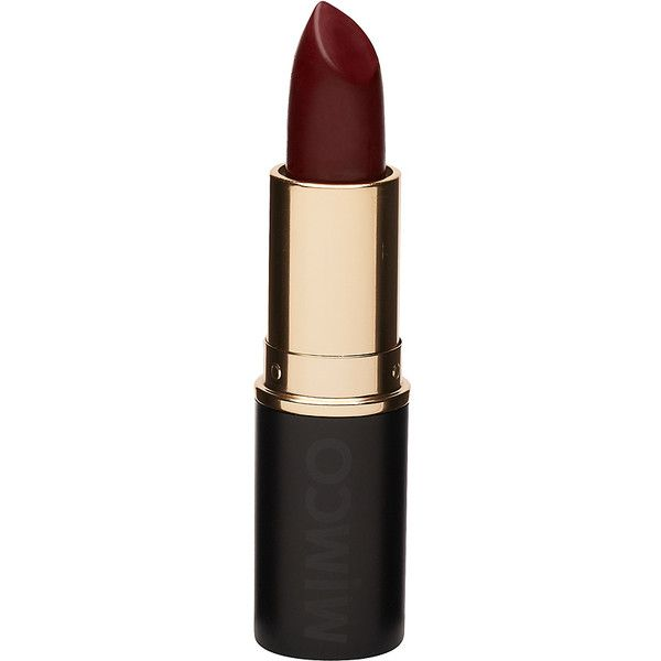 Mimco Blood Red Matte Lipstick ($26) found on Polyvore