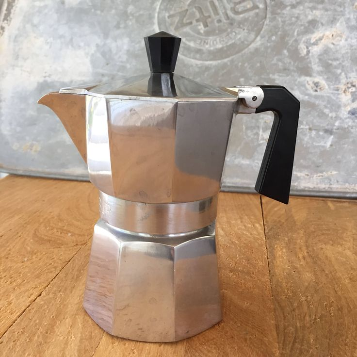 Vintage Italian Zanzibar Espresso Maker   at Heart Rocks In My Pocket Etsy shop https://www.etsy.com/listing/514672666/vintage-zanzibar-caffettiera-express