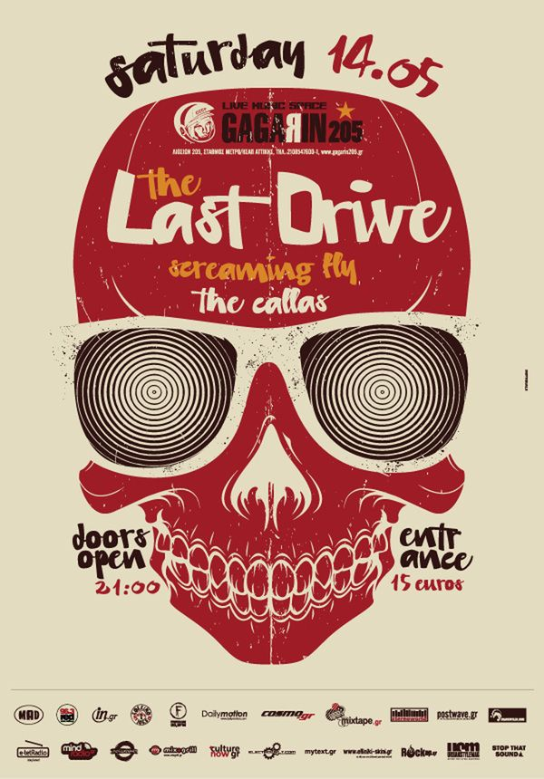 The Last Drive / Silkscreen Poster -   Designed by Indyvisuals / printed by tind