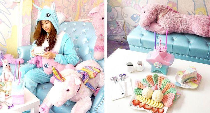 Se siete appassionati di unicorni e arcobaleni, potreste impazzire qui dentro