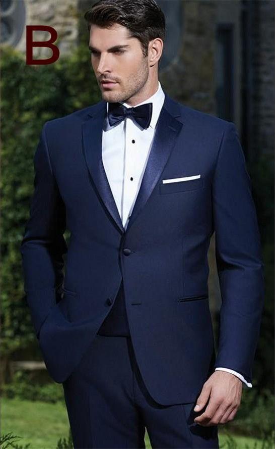 Resultado de imagen para traje azul marino hombre                              …