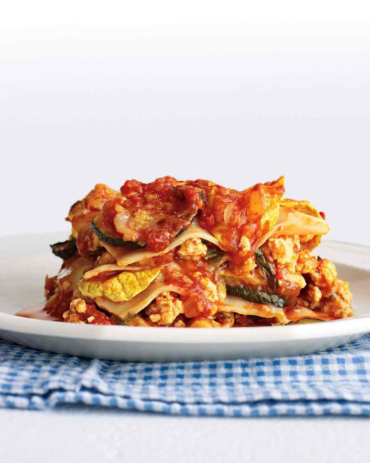 Try this light take on lasagna made with chicken and squash is the ...