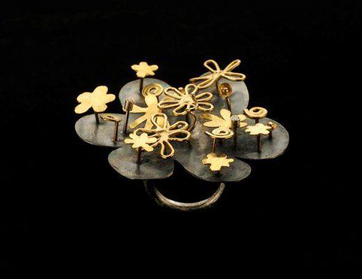 anello-argento-925-con-elementi-oro-e-diamanti-ct-006. Gigi Mariani