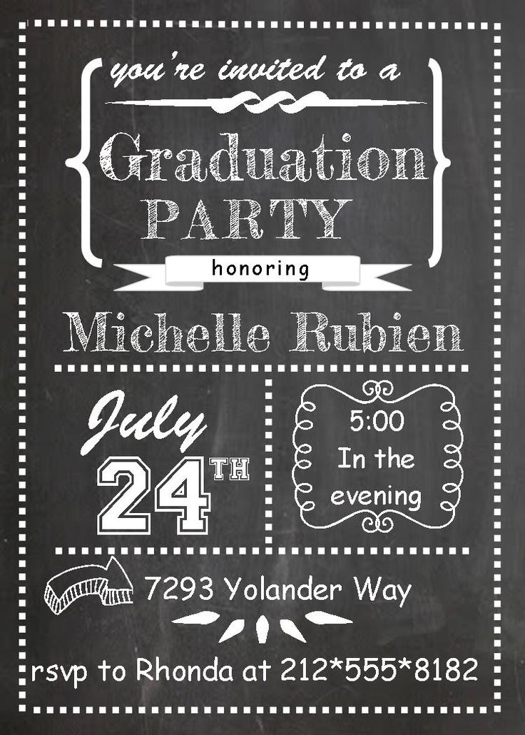 Graduation Party Invitations ~ High school or college Graduation Party Invitations spring 2015