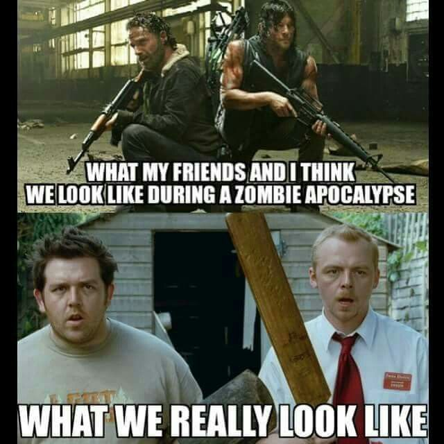 This is the best thing ever! Twd AND Shawn of the Dead?? Love it!