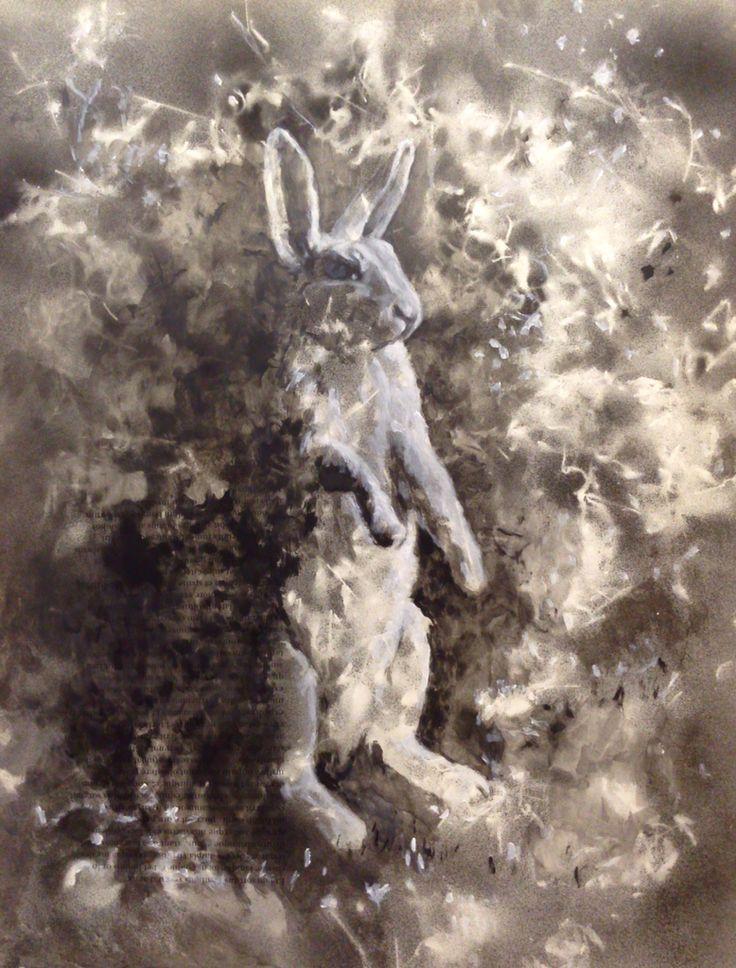 #the rabbit hole#43x56#alkyd,acrylic#paper#rithva.dk#