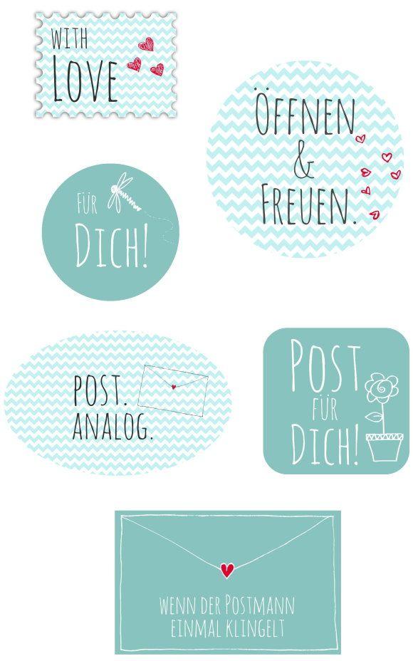 Pimp my Brief: Kostenlose Etiketten für Deine analoge Post zum Ausdrucken, Aufkleben und Versenden!