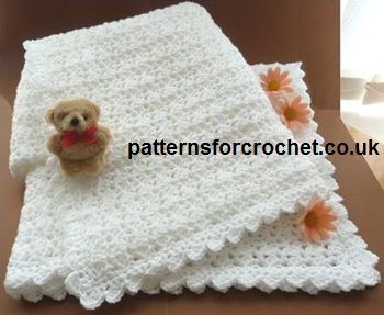 Free baby crochet pattern shawl usa