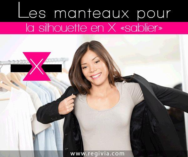 Manteaux pour morphologie et silhouette en X ou sablier