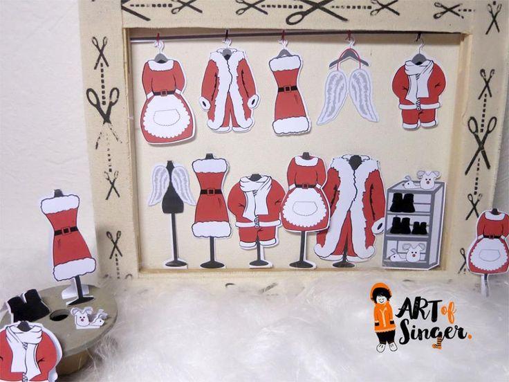 Silhouette plotter file free, Plotter Datei kostenlos, plotter freebie, Weihnachten, Christmas, Xmas, Mode, Weihnachtsfamilie, santa fashion